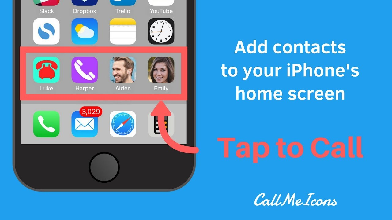 How to add a quick dial icon to your iPhone's home screen