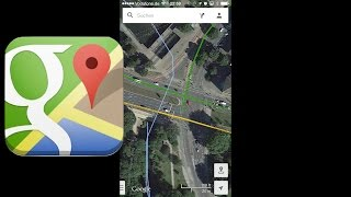 Google Maps App im GPS-Navigations-Test, Review, iPhone (deutsch) Free HD Video