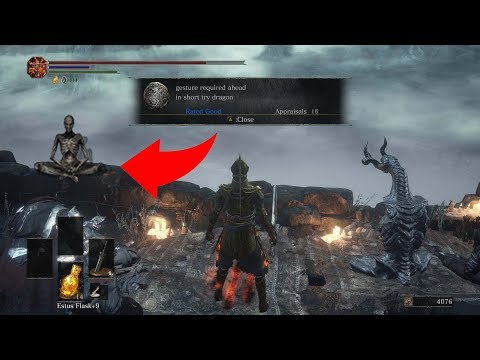 darksouls 3 how to get the ragon pose