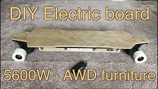#61 DIY electric AWD furniture board PT1 - 전동보드