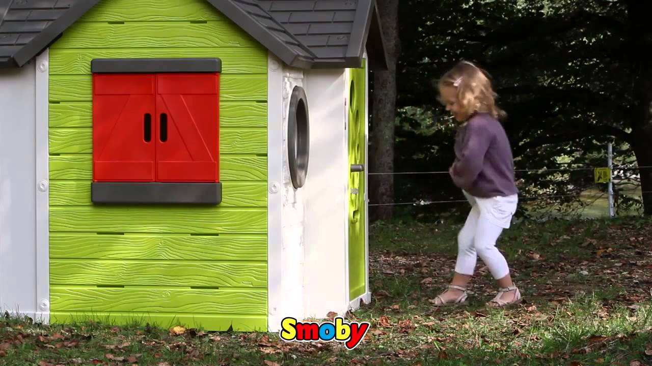 smoby my house childrens garden playhouse kids roleplay ref 810402 youtube. Black Bedroom Furniture Sets. Home Design Ideas