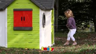 New Smoby My House For 2014 Childrens Garden Playhouse Kids Roleplay Ref 310228