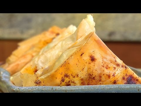 How To Make Cheese & Herb Filled Phyllo Triangles