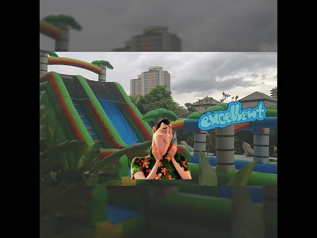 Bangkok Kids Party Rentals Supplier Thailand +66(0)914798674 -Tropical Water Slip & Slide