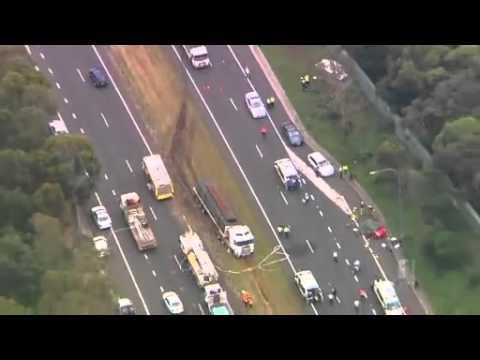 Two die in Sydney M5 traffic crash