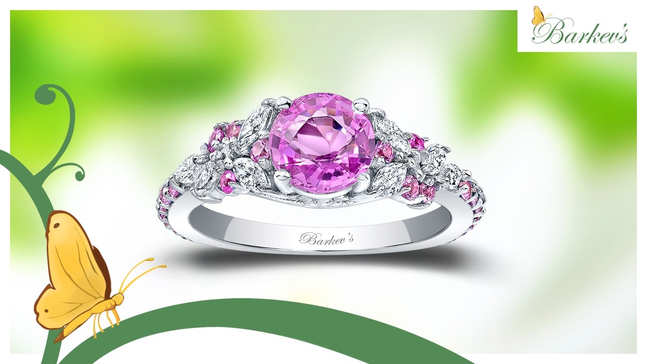 abe250c70 Barkev's Exquisite Pink Sapphire Engagement Ring - PSC-7932LPS - YouTube