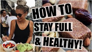 How To Stay Full, Healthy, and Motivated! // Post Workout Snacks