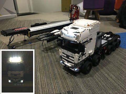 Lego Technic Moc Truck Oversize Youtube