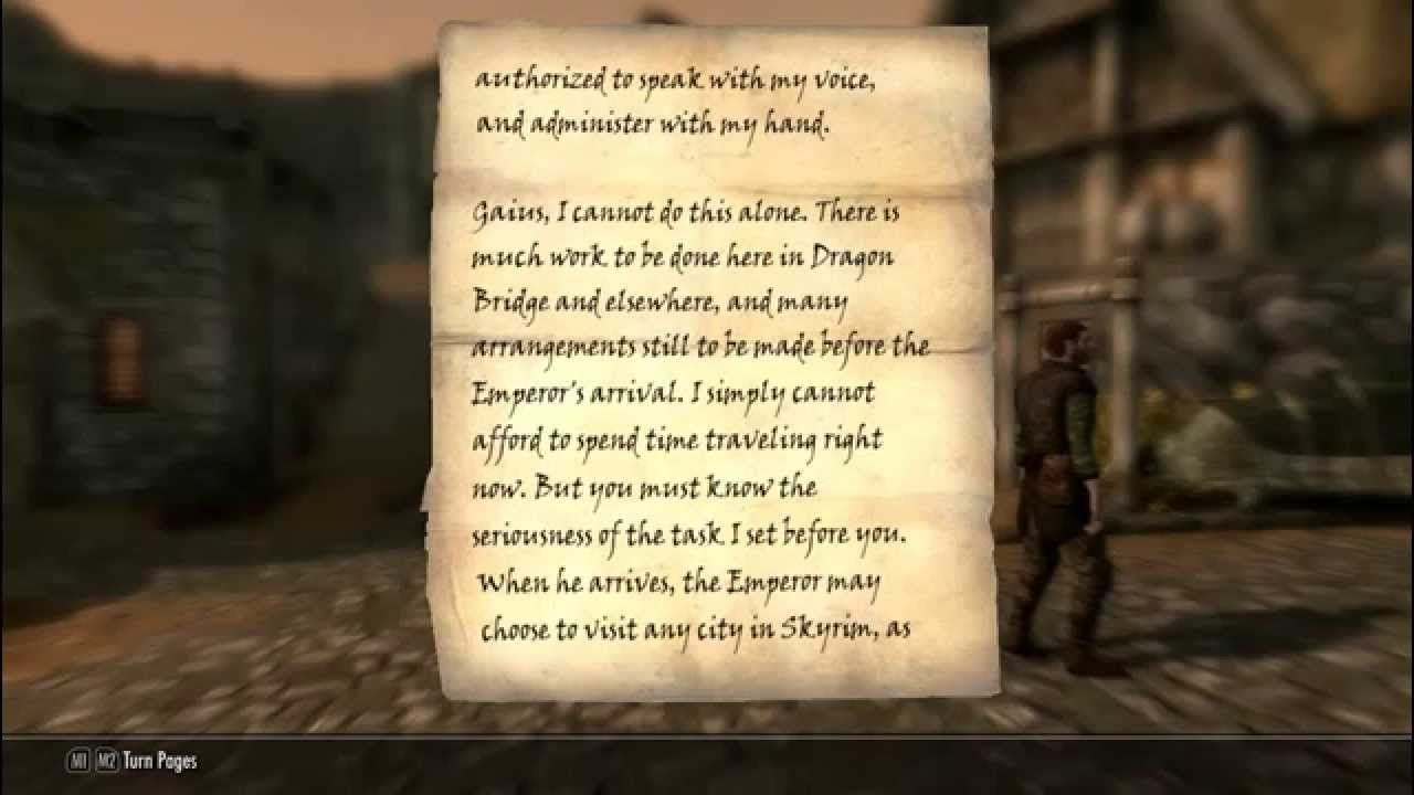 skyrim the elder scrolls letter from farther - YouTube