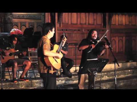 """""""Bengawan Solo"""" (Gesang) - by Jubing(guitar,) Ages (violin) & Batavia Mood Ensemble"""