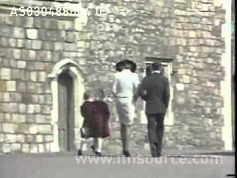 Princess Diana at Windsor for Easter Service