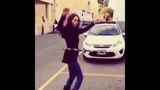 Troian Bellisario Hula-Hooping On Set #PLLSeason5