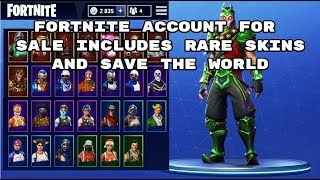 FORTNITE ACCOUNT FOR SALE 38 RARE SKINS comprend SAVE THE WORLD -RED KNIGHT