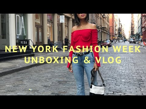 A Day In The Life  New York Fashion Week & Unboxing  Song of Style