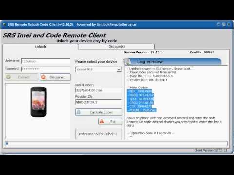 Alcatel codes calculator