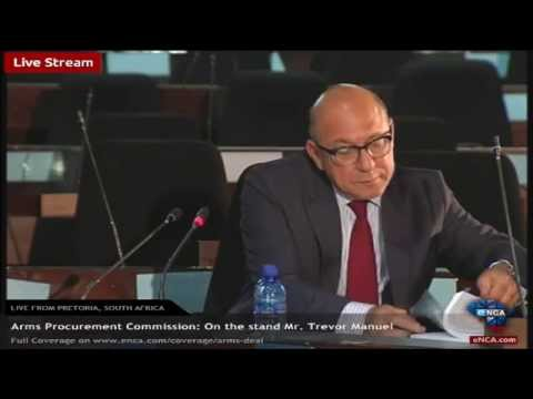 Arms Deal Inquiry: Witness on the stand Mr. Trevour Manuel