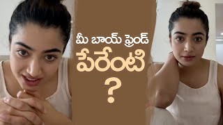 Rashmika Mandanna's Reaction To His Fan Question About Boyfriend | MS Entertainments