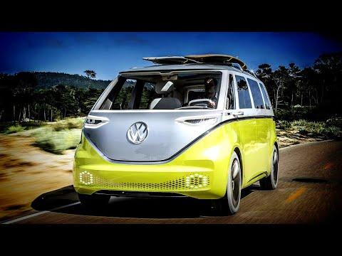 Volkswagen's New I.D. Buzz! All Electric Concept Micro Bus. Fun, Funky, & Awesome! Van De Campista!