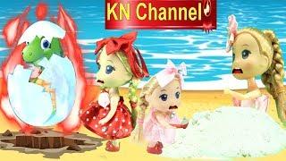BÚP BÊ KN Channel TÌM TRỨNG BẤT NGỜ SIÊU TO KHỔNG LỒ CHÔN DƯỚI CÁT BIỂN