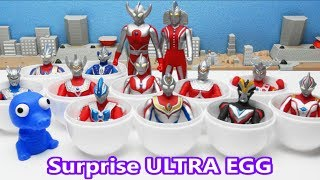Ultraman Surprise Ultra Eggs Zeo Ginga Hikari Dyna Taro Mebius Ultr...