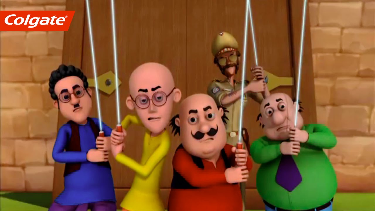 Motu And Patlu Save The Magical Castle With Colgate Dental Cream