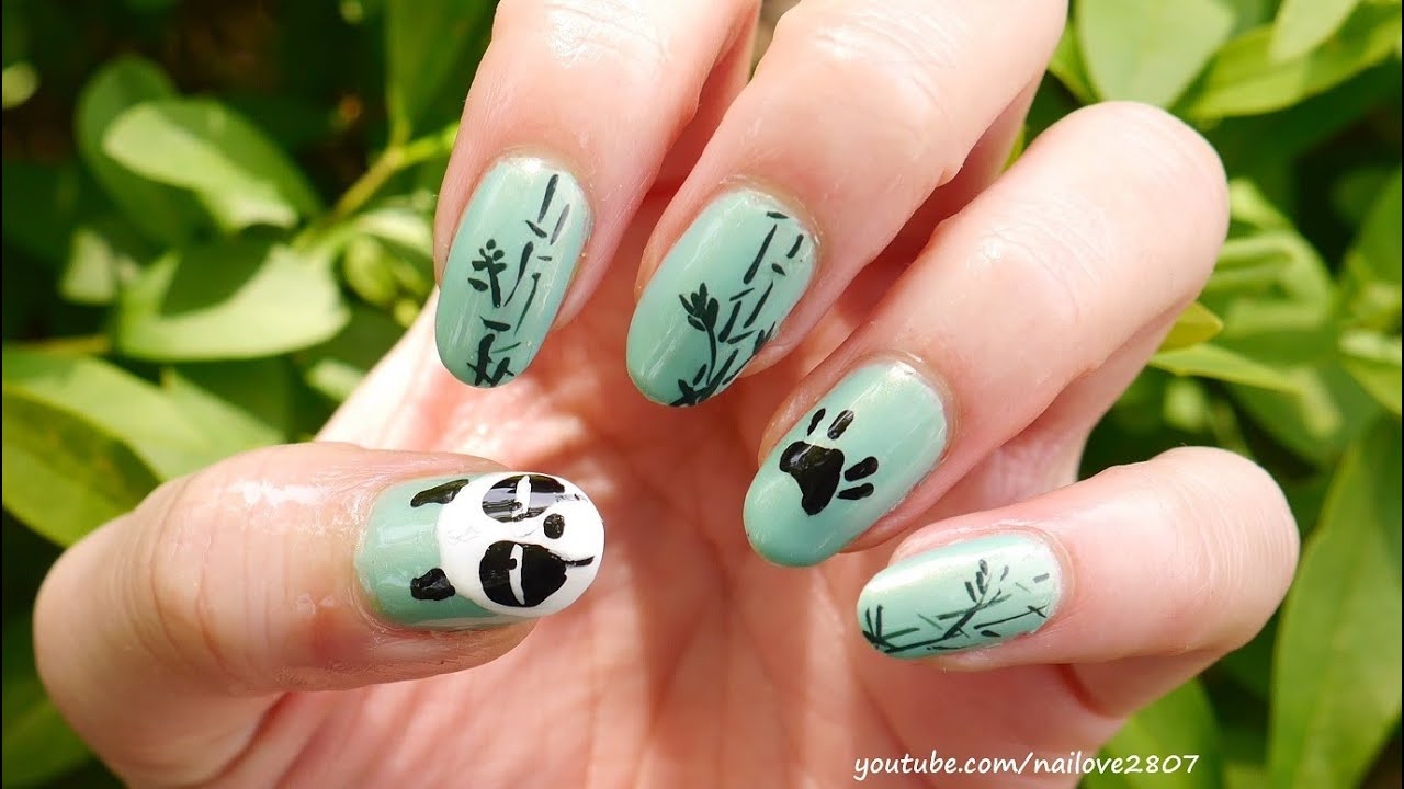 Sleepy panda nail art tutorial genma saotome nails youtube prinsesfo Image collections