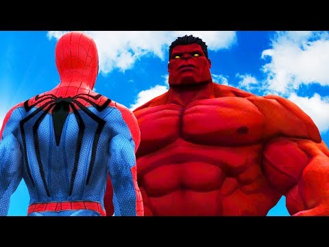 BIG RED HULK VS SPIDERMAN - THE RED HULK VS INSOMNIAC SPIDER-MAN