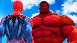 BIG RED HULK VS SPIDERMAN - THE RED HULK VS INSOMNIAC SPIDER-MAN