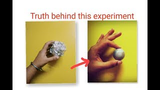 Mirror-Polished Japanese Foil Ball Challenge Crushed | Truth behind this experiment | Aluminium Ball