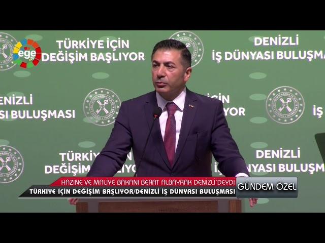 Ege TV-Bakan Berat Albayrak Denizli'de 09.03.2020