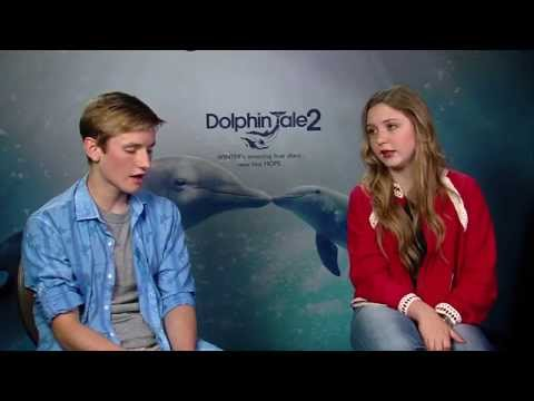 Nathan Gamble  and Cozi Zuehlsdorff Interview Dolphin Tale 2