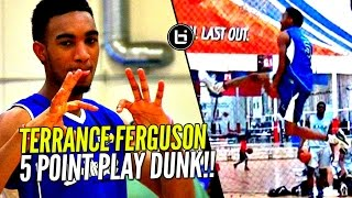 The 5 Point Play Dunk by Terrance Ferguson at 2016 Ballislife All American Practice!