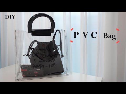 DIY / pvc bag, 올 여름 하나씩 갖고 싶은 pvc 가방 만들기 / how to make a pvc bag / sewing tutorialㅣsquare sand