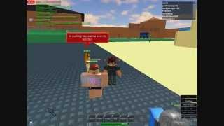 ROBLOX cpole finds a nasty npc!