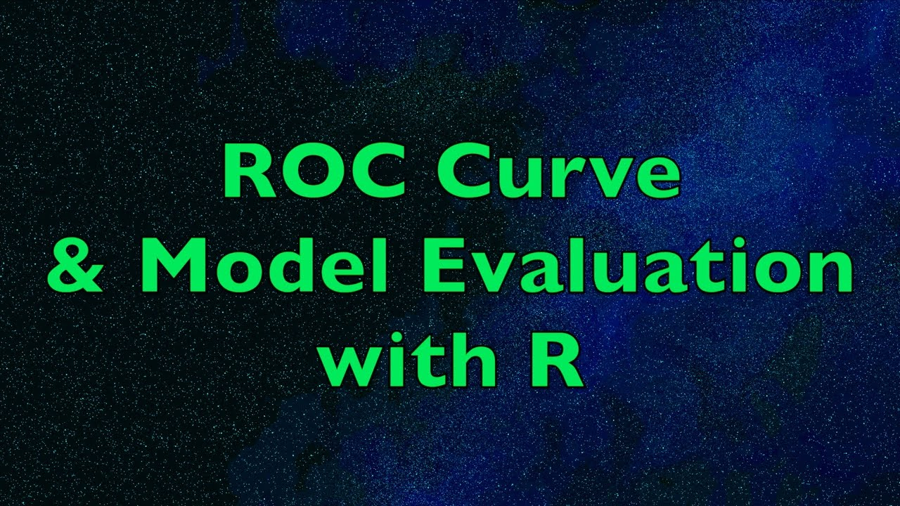 ROC Curve & Area Under Curve (AUC) with R - Application Example