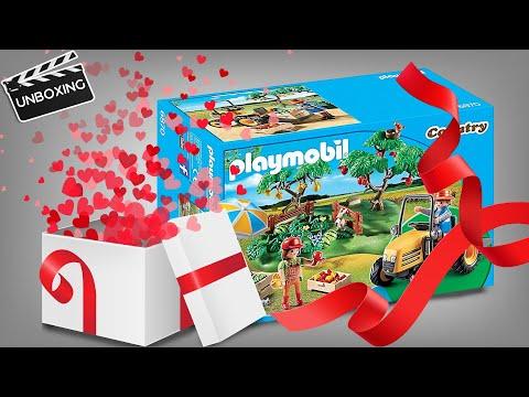 Playmobil Martins Unboxing: StarterSet Obsternte mit Traktor - 6870 🍏🍉
