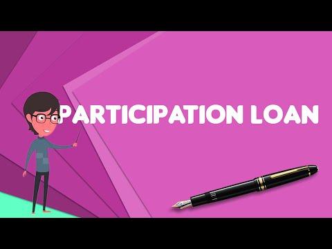 What is Participation loan?, Explain Participation loan, Define Participation loan