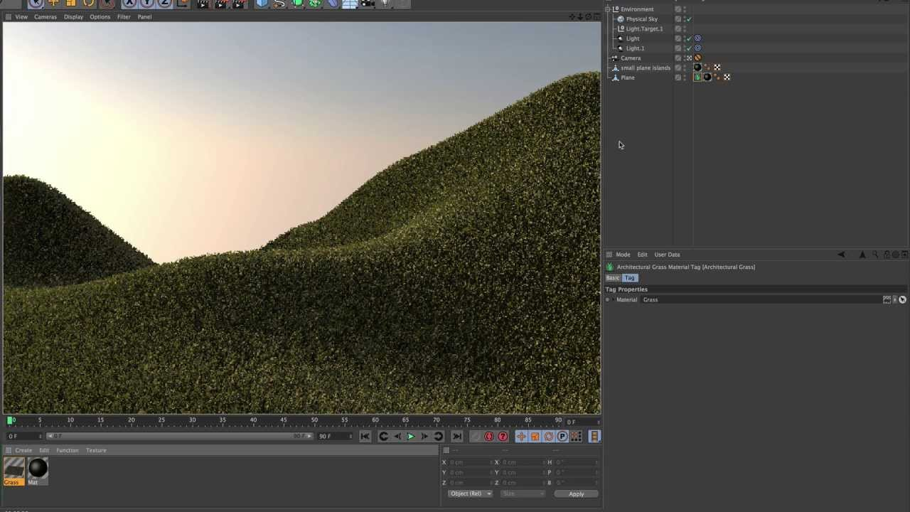 New in cinema 4d r15 workflow architectural grass youtube for Cinema 4d architecture