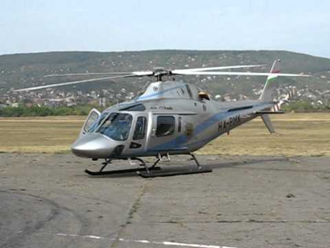 Agusta A 119 helicopter takeoff- landing / HA-PMK / - YouTube