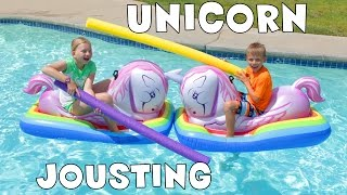 What can be better than jousting on unicorns in water??! Not much u...