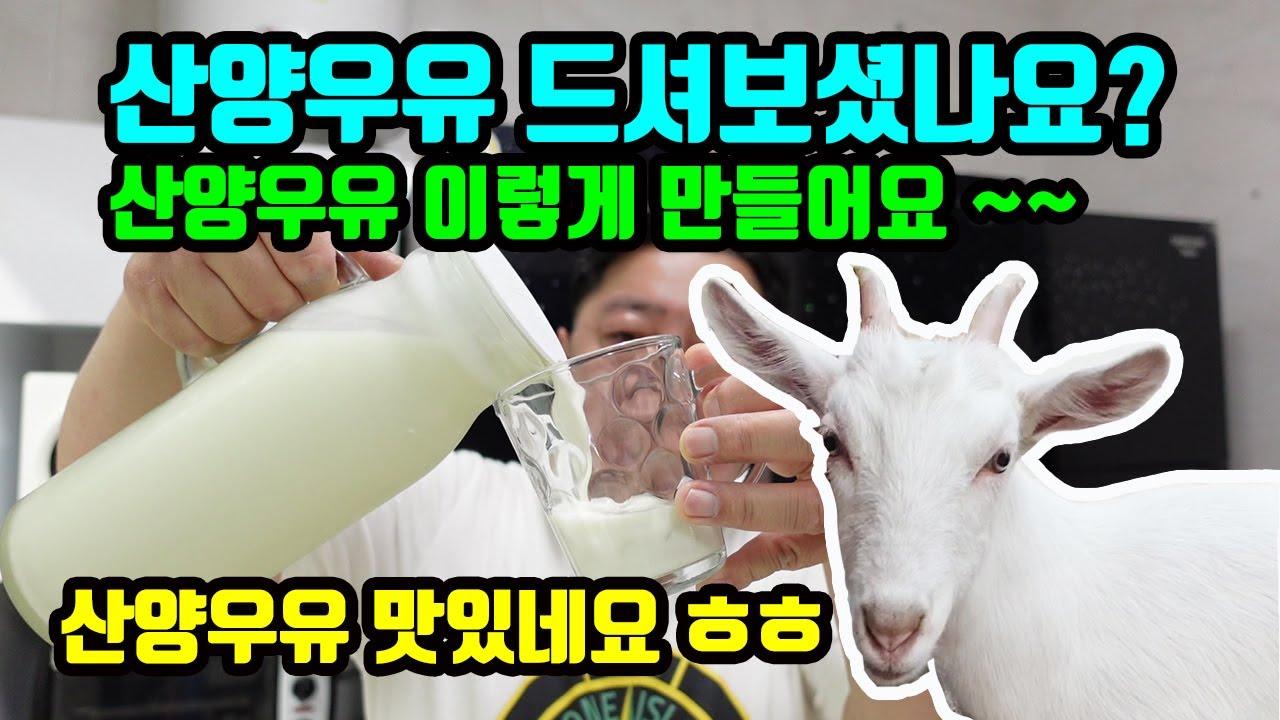산양우유 만드는 방법 , 저온살균방법 ( 산양우유 맛있네요 ~ )