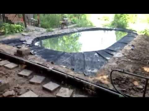 видео: как сделать пруд на даче своими руками , быстро и надежно делаем пруд самостоятельно