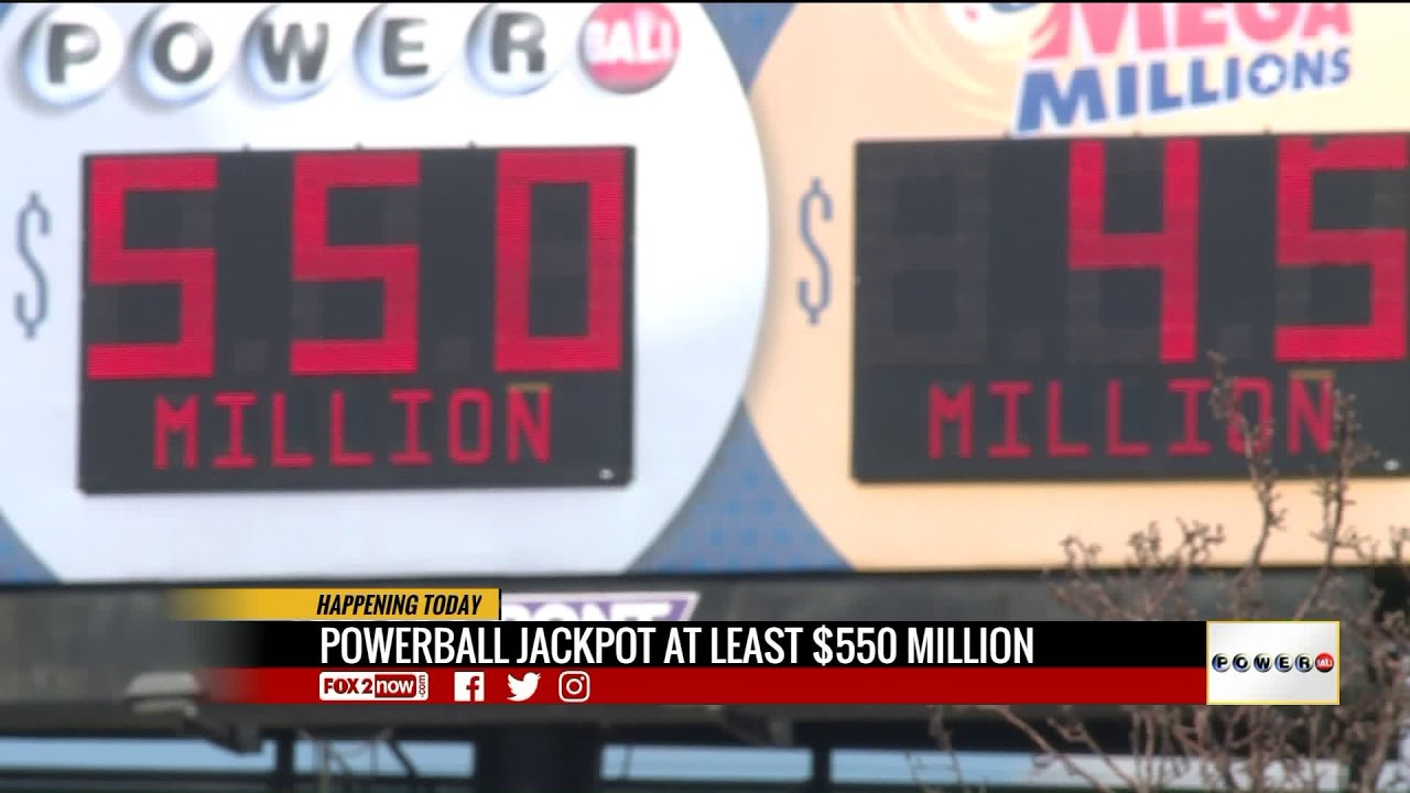 550 Million Powerball Drawing Wednesday Youtube