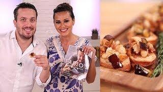 Fabio Viviani's Eggplant Pancetta Bruschetta Recipe | Easy Appetizers | Food How To