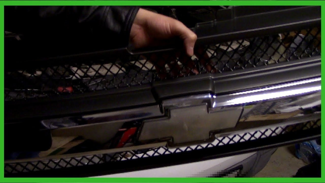 hight resolution of removing and replacing grille for chevy trailblazer 2002 lt easy job
