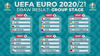 The folowing is uefa euro 2020 group stage drawthe draw for final tournament took place at romexpo in bucharest from 18:00 cet on satu...