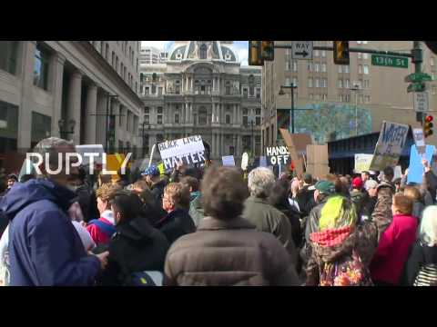 LIVE: Protests mark Trump's visit to Philadelphia