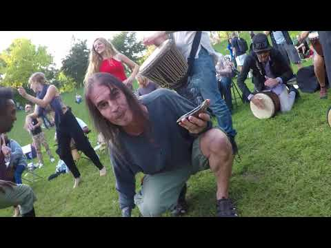 Trinity Bellwoods Park - Drum Circle WalkAround 2017-09-10