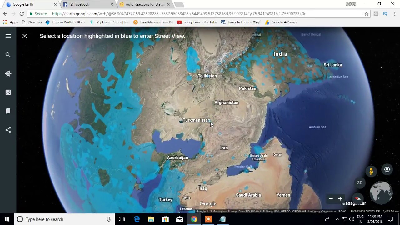 How To Use Google Earth Live Satellite View of Earth - YouTube