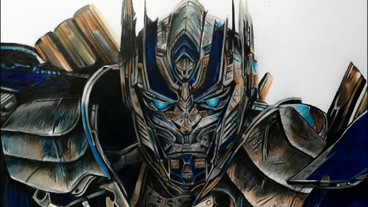 Drawing Optimus Prime : Transformers 5 🚛 🏻 - YouTube